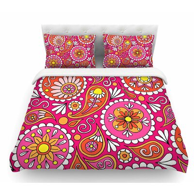 Paisley Pop by Sarah Oelerich Featherweight Duvet Cover Size: Twin