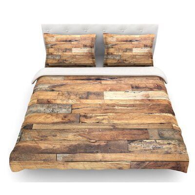 Campfire Wood by Susan Sanders Rustic Featherweight Duvet Cover Size: King