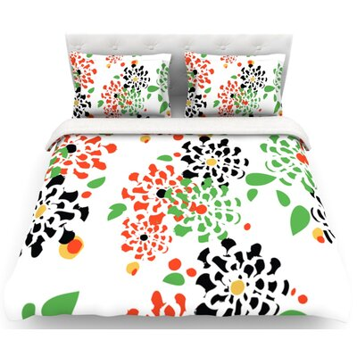 Multi Bouquet by Sonal Nathwani Featherweight Duvet Cover Size: Queen