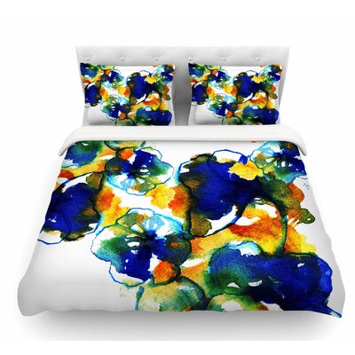Floral by Sonal Nathwani Abstract Featherweight Duvet Cover Size: Queen