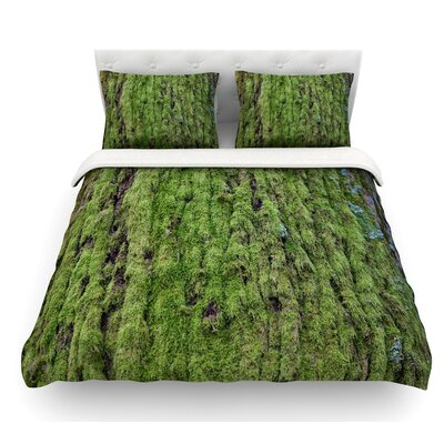 Emerald Moss by Susan Sanders Nature Featherweight Duvet Cover Size: Twin