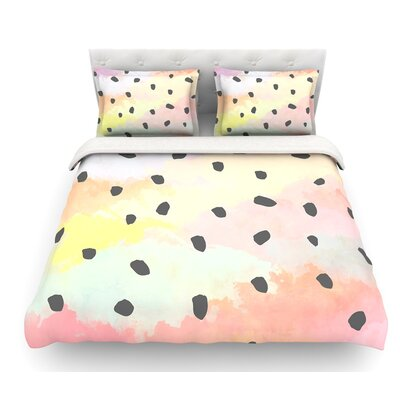 With Dots by Strawberringo Pastel Featherweight Duvet Cover Size: King