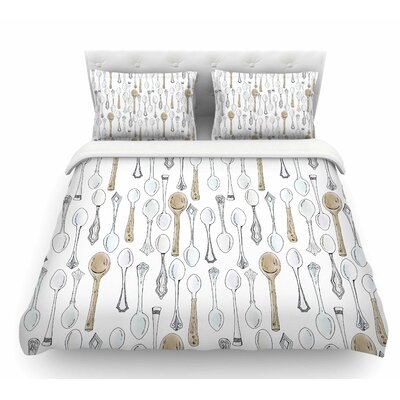 Spoons by Stephanie Vaeth Featherweight Duvet Cover Size: Twin