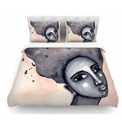 Yearning African American Art by Stacey-Ann Cole Featherweight Duvet Cover Size: Twin