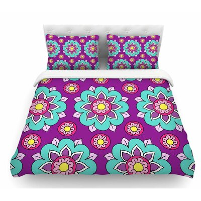 Bright Blossoms by Sarah Oelerich Featherweight Duvet Cover Size: King