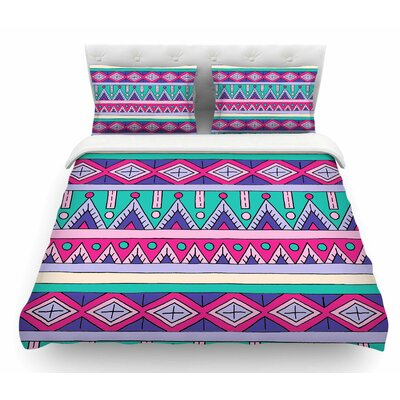 Tribal by Sarah Oelerich Featherweight Duvet Cover Size: Queen