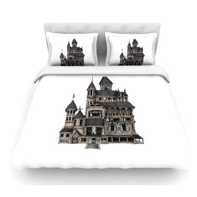 House of Usher by Sophy Tuttle Haunted Featherweight Duvet Cover Size: Queen
