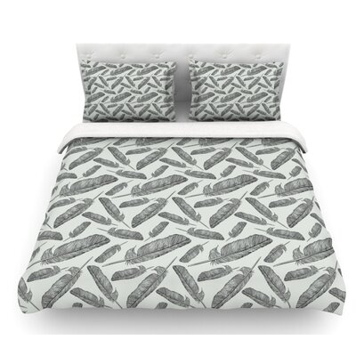 Feather Scene by Sam Posnick Featherweight Duvet Cover Size: Queen