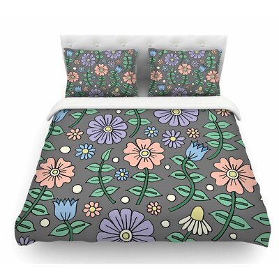Early Spring by Sarah Oelerich Pastel Floral Featherweight Duvet Cover Size: King