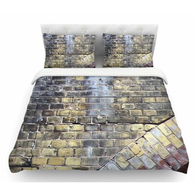 Painted Grunge Brick Wall by Susan Sanders Featherweight Duvet Cover Size: Queen