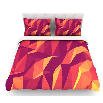 Abstract Mountains by Strawberringo Abstract Featherweight Duvet Cover Size: Twin
