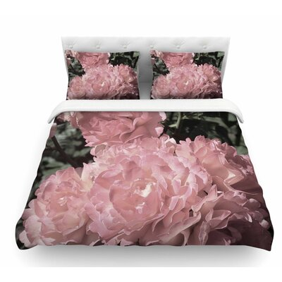 Blush Flowers by Susan Sanders Floral Featherweight Duvet Cover Size: King