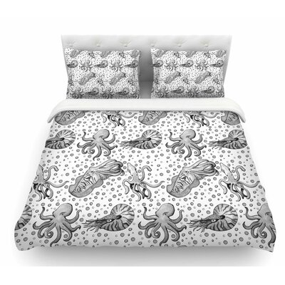 Cephalopods by Stephanie Vaeth Featherweight Duvet Cover Size: Queen
