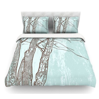 Winter Trees by Sam Posnick Featherweight Duvet Cover Size: Queen