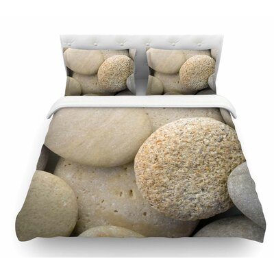 River Stones by Susan Sanders Featherweight Duvet Cover Size: Queen