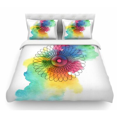 Rainbow Spiro by Sonal Nathwani Featherweight Duvet Cover Size: Queen