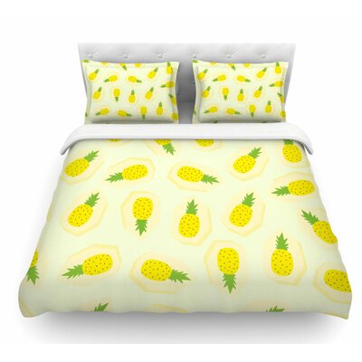 Pineapple Pattern by Strawberringo Fruit Featherweight Duvet Cover Size: Twin