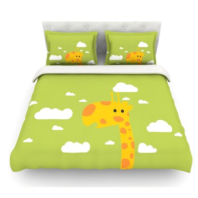 Baby Giraffe by Strawberringo Featherweight Duvet Cover Size: Twin