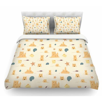 Sandcastles by Stephanie Vaeth Featherweight Duvet Cover Size: Queen