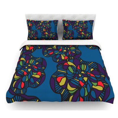 Mushroom Flower by Sonal Nathwani Featherweight Duvet Cover Size: Twin