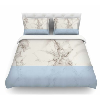 Marble Block by Suzanne Carter Modern Featherweight Duvet Cover Size: Twin, Color: Gray/Blue