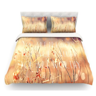 You are Precious by Suzanne Carter Quote Featherweight Duvet Cover Size: Twin