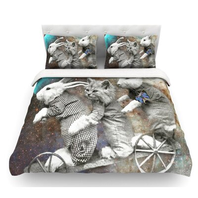 Space Travel by Suzanne Carter Featherweight Duvet Cover Size: King