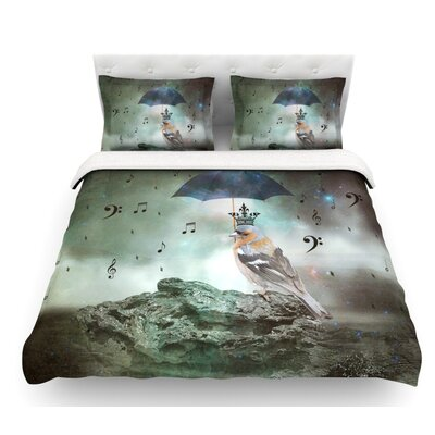 Umbrella Bird by Suzanne Carter Featherweight Duvet Cover Size: King