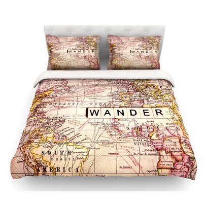 Wander by Sylvia Cook Featherweight Duvet Cover Size: Twin