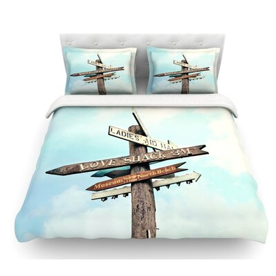 Love Shack by Sylvia Cook Featherweight Duvet Cover Size: Twin