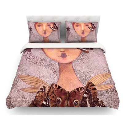 Prudence by Suzanne Carter Portrait Featherweight Duvet Cover Size: Queen