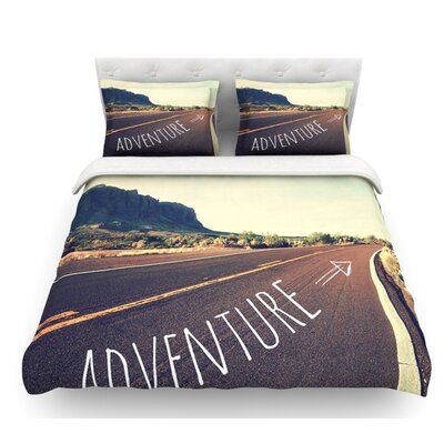Adventures by Sylvia Cook Desert Road Featherweight Duvet Cover Size: King