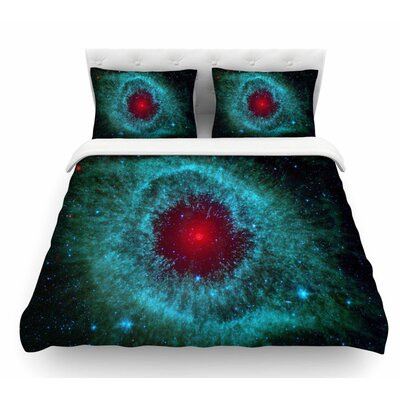Helix Nebula by Suzanne Carter Celestial Featherweight Duvet Cover Size: Twin