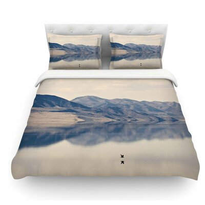 Reflective 1 by Sylvia Coomes Featherweight Duvet Cover Size: Twin