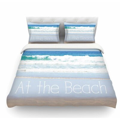 Life is Better at the Beach by Sylvia Coomes Featherweight Duvet Cover Size: Queen