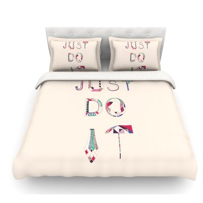 Just Do It by Vasare Nar Rainbow Featherweight Duvet Cover Size: Queen