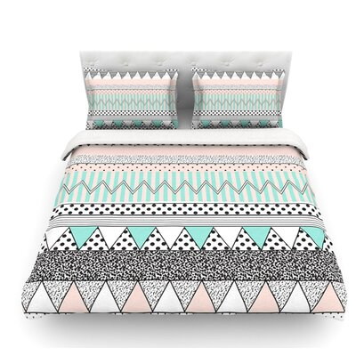 Chevron Motif by Vasare Nar Featherweight Duvet Cover Size: Queen