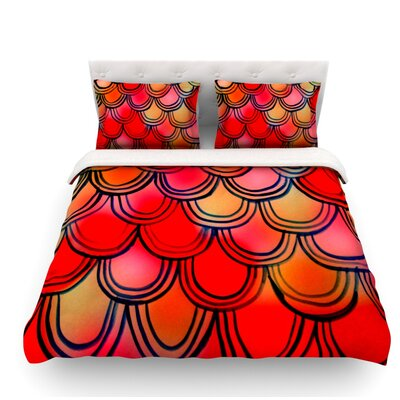 Dragon Tail by Theresa Giolzetti Featherweight Duvet Cover Size: Queen