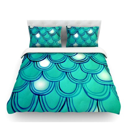 Mermaid Tail by Theresa Giolzetti Featherweight Duvet Cover Size: Twin
