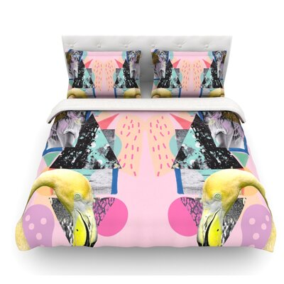 Flamingo Tropical by Vasare Nar Featherweight Duvet Cover Size: Twin