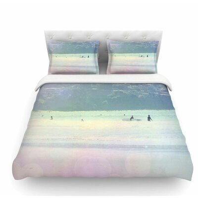 Rainbow 3 by Sylvia Coomes Pastel Featherweight Duvet Cover Size: Twin