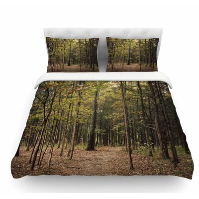 Forest Trees by Sylvia Coomes Featherweight Duvet Cover Size: King