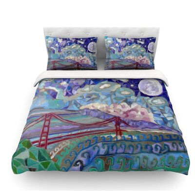 San Fran by Theresa Giolzetti Featherweight Duvet Cover Size: Queen