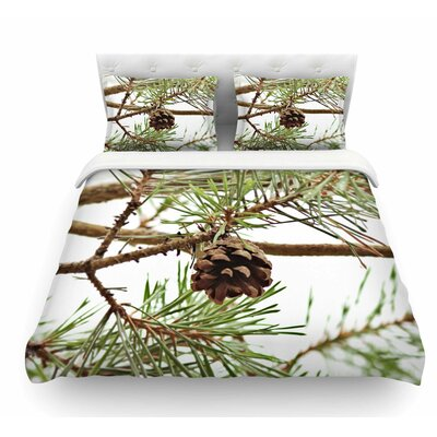 Pinecone by Sylvia Coomes Featherweight Duvet Cover Size: Twin
