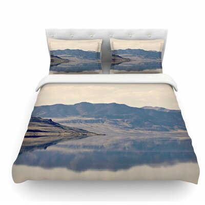 Reflective 2 by Sylvia Coomes Featherweight Duvet Cover Size: Twin