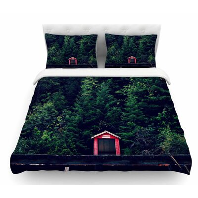 Woods by Robin Dickinson Forest Featherweight Duvet Cover Size: Twin