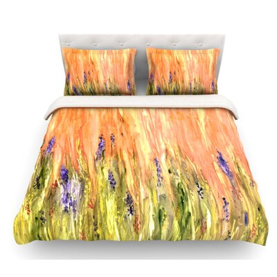 Welcome Spring by Rosie Brown Featherweight Duvet Cover Size: Twin