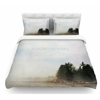 He Who Seeks Beauty by Robin Dickinson Coastal Featherweight Duvet Cover Size: Twin