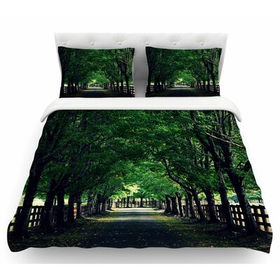 Welcome Home by Robin Dickinson Trees Featherweight Duvet Cover Size: Queen