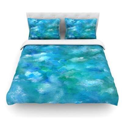Ocean Waters by Rosie Brown Featherweight Duvet Cover Size: King